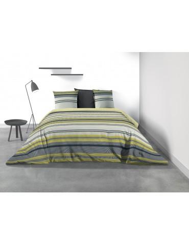 Parure de lit 2 personnes Mellow avec housse de couette et taies d'oreiller Imprimé 260 x 240 8049000503Les Ateliers du Linge