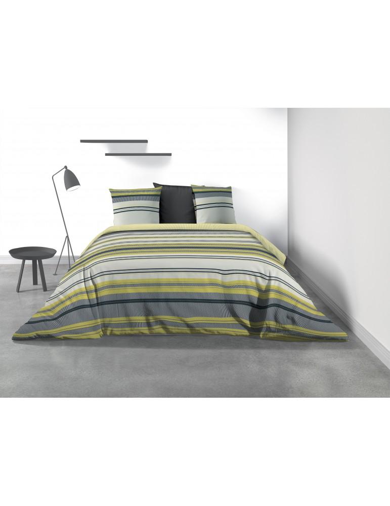 Parure de lit 2 personnes Mellow avec housse de couette et taies d'oreiller Imprimé 240 x 220 8063000503Les Ateliers du Linge