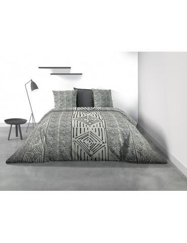 Parure de lit 2 personnes Berbère avec housse de couette et taies d'oreiller Imprimé 240 x 220 7939000503Les Ateliers du Linge