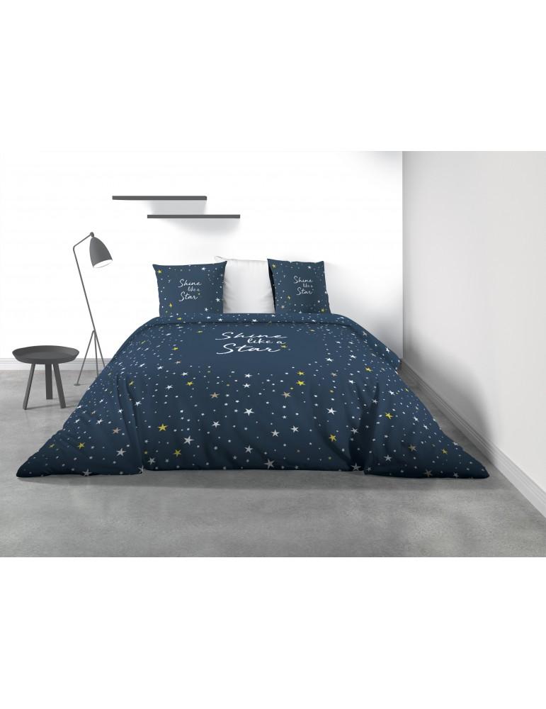 Parure de lit 2 personnes Galaxy avec housse de couette et taies d'oreiller Imprimé 240 x 220 7824000503Les Ateliers du Linge