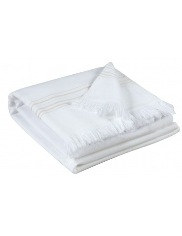 Serviette de toilette Cancun Neige 50 x 100 2361310000Vivaraise