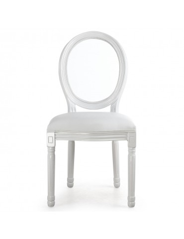 Lot de 2 chaises Louis XVI Glass Blanc 24501acrwhite
