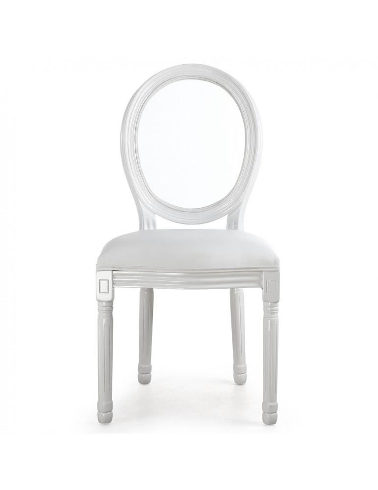 Lot de 2 chaises Louis XVI Glass Blanc 24501acrwhite