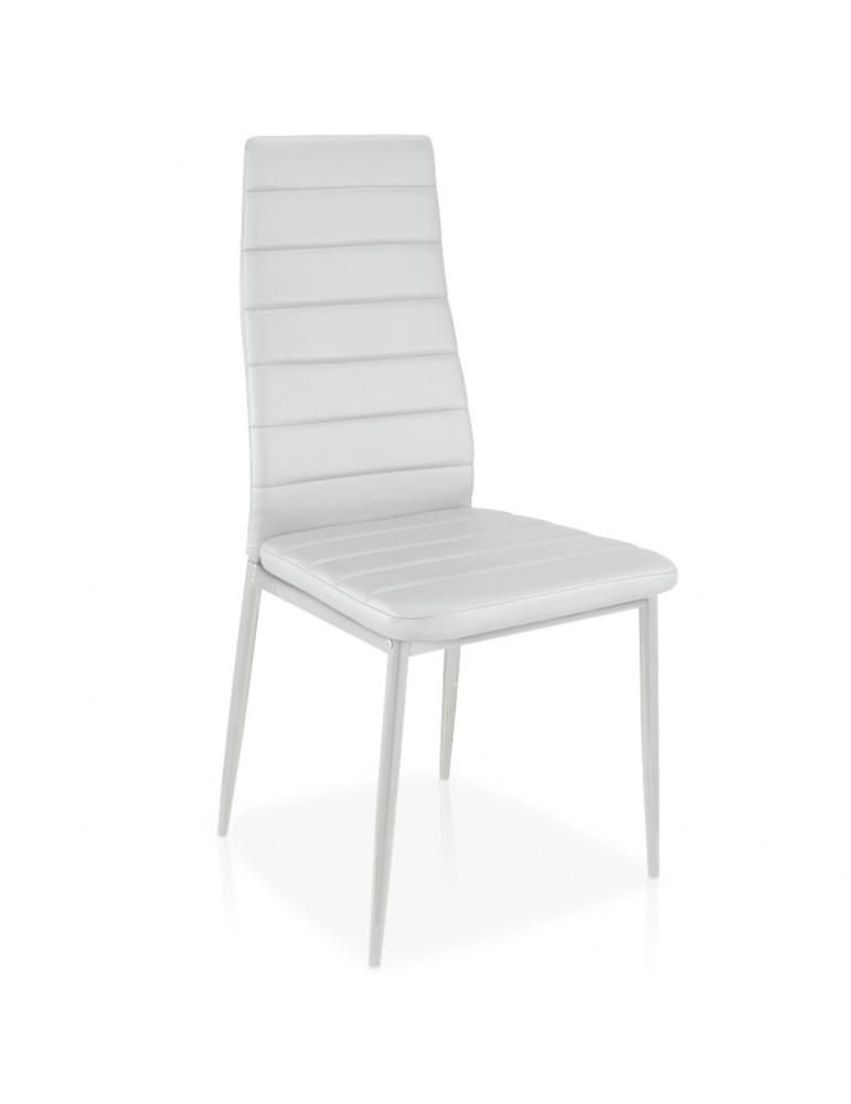 Lot de 8 chaises Stratus Blanc mlm112157lot8blanc