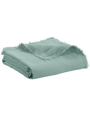Plaid Zeff Nomade Vert de gris 130 x 180 2437020000Vivaraise