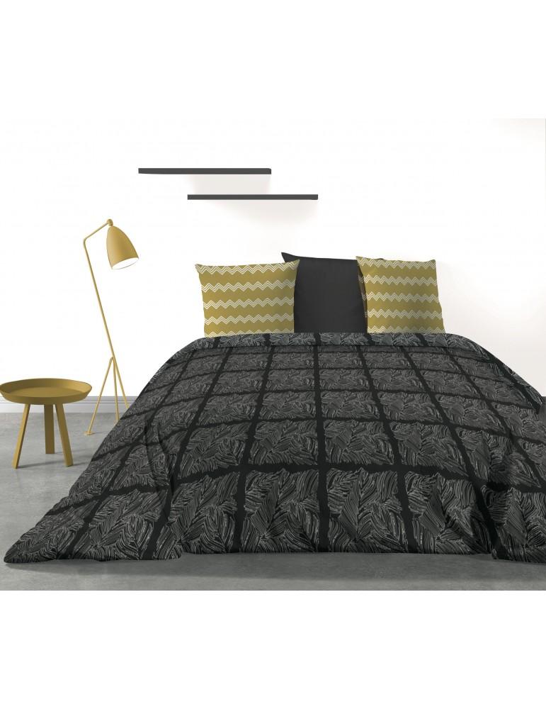 Parure de lit 2 personnes Mirror avec housse de couette et taies d'oreiller Imprimé 260 x 240 3091000503Les Ateliers du Linge
