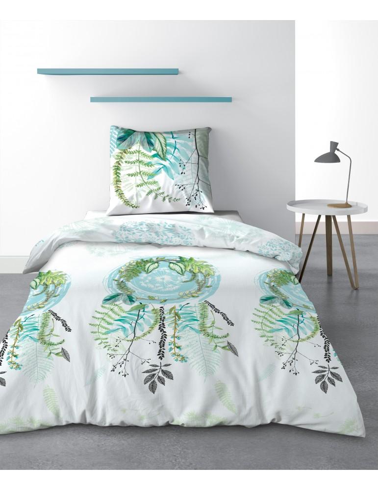 Parure de lit 1 personne Poesia avec housse de couette et taie d'oreiller Imprimé 140 x 200 3215000502Les Ateliers du Linge