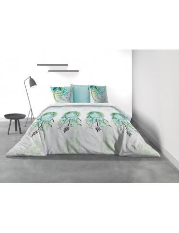 Parure de lit 2 personnes Poesia avec housse de couette et taies d'oreiller Imprimé 260 x 240 3231000503Les Ateliers du Linge