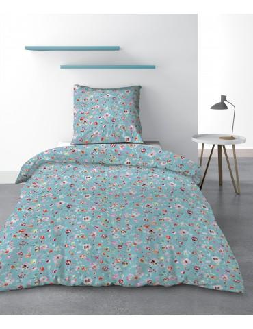 Parure de lit 1 personne Liberty Blue avec housse de couette et taie d'oreiller Imprimé 140 x 200 3243000502Les Ateliers du L...