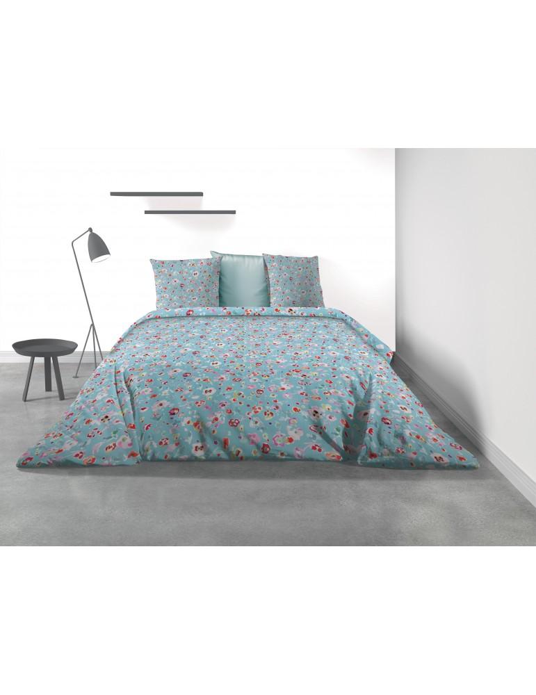 Parure de lit 2 personnes Liberty Blue avec housse de couette et taies d'oreiller Imprimé 260 x 240 3254000503Les Ateliers du...