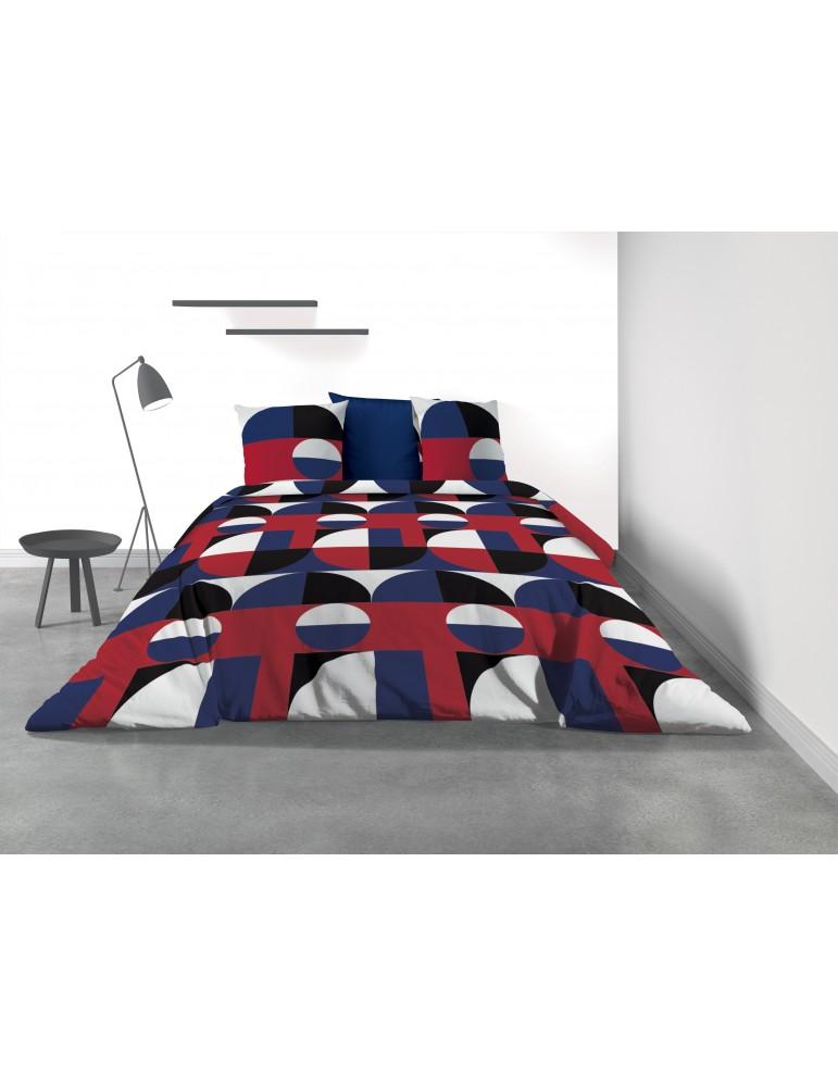 Parure de lit 2 personnes Knivik avec housse de couette et taies d'oreiller Imprimé 240 x 220 3270000503Les Ateliers du Linge