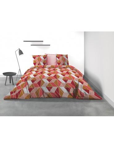 Parure de lit 2 personnes Trysi avec housse de couette et taies d'oreiller Imprimé 240 x 220 3277000503Les Ateliers du Linge
