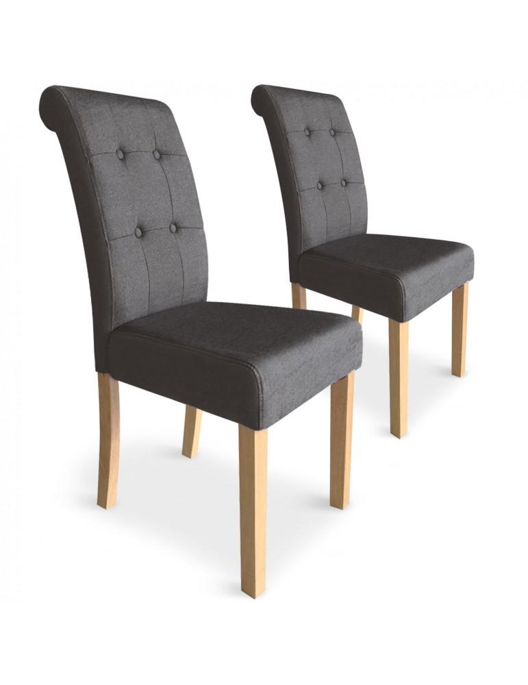 Lot de 2 chaises Adam Tissu Taupe wh11322taupe10