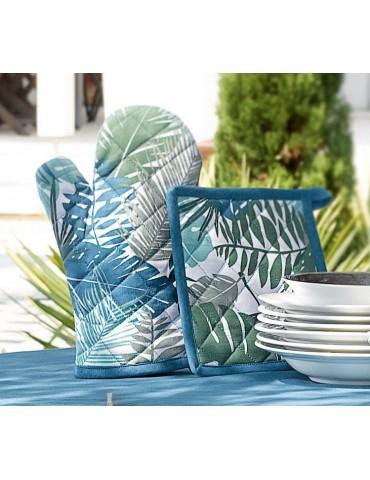 Gant de cuisine + Manique Phao Bleu denim 8187060602Les Ateliers du Linge