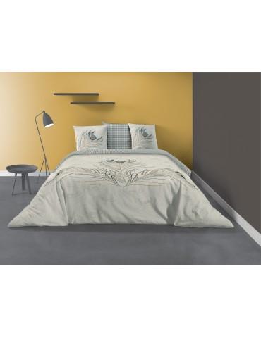 Parure de lit 2 personnes Fazia avec housse de couette et taies d'oreiller Imprimé 240 X 220 7254000503Les Ateliers du Linge