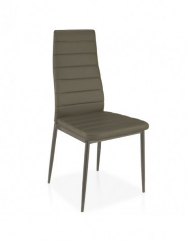 Lot de 8 chaises Stratus Taupe mlm112157lot8taupe