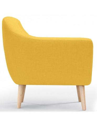 Fauteuil scandinave savoy tissu jaune qh8805yellow - Fauteuil scandinave jaune ...
