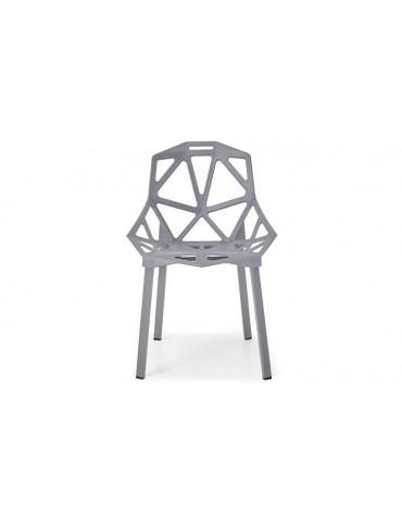 Lot de 4 chaises dossier toile d'araignée Spider Gris dc1513grey