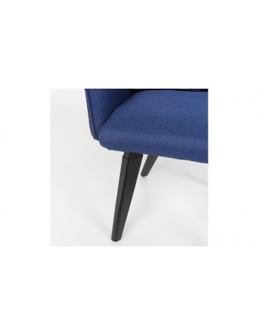 Chaise / Fauteuil Gybson Sequins Tissu Bleu et Sequins réversibles Bleu & Argent lf503040bleupailletteblue