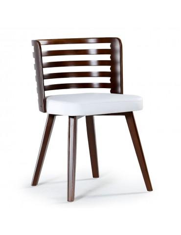 Lot de 2 chaises scandinave Koxy bois noisette et Blanc 2xgf160anoisblanc