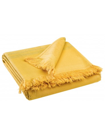 Drap de douche Cancun Curry 70 x 140 2361445000Vivaraise
