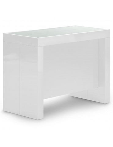 Table Console Pandore Blanc AT8028L-Blanc laque