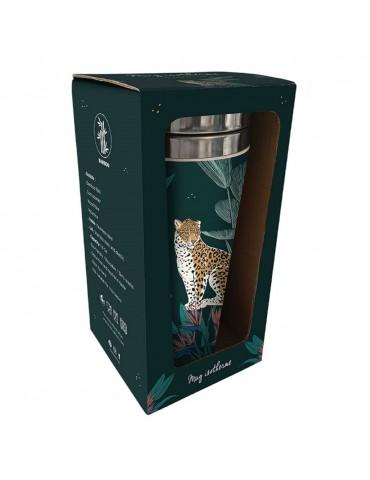 Mug isotherme en bamboo savane leopard MUGBAM19S02Kiub