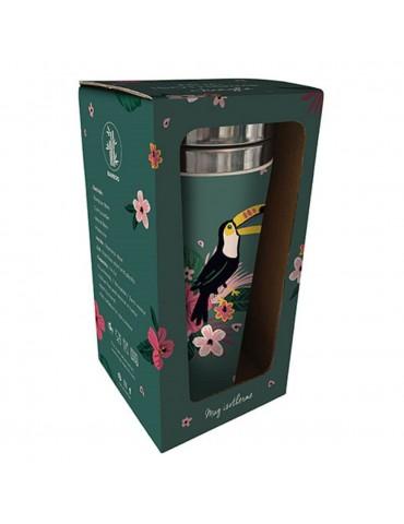 Mug isotherme en bamboo toucan jungle MUGBAM18R01Kiub