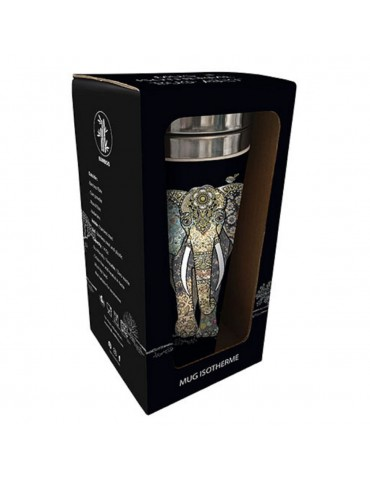 Mug isotherme en bamboo jewel elephant MUGBAM03C01Kiub