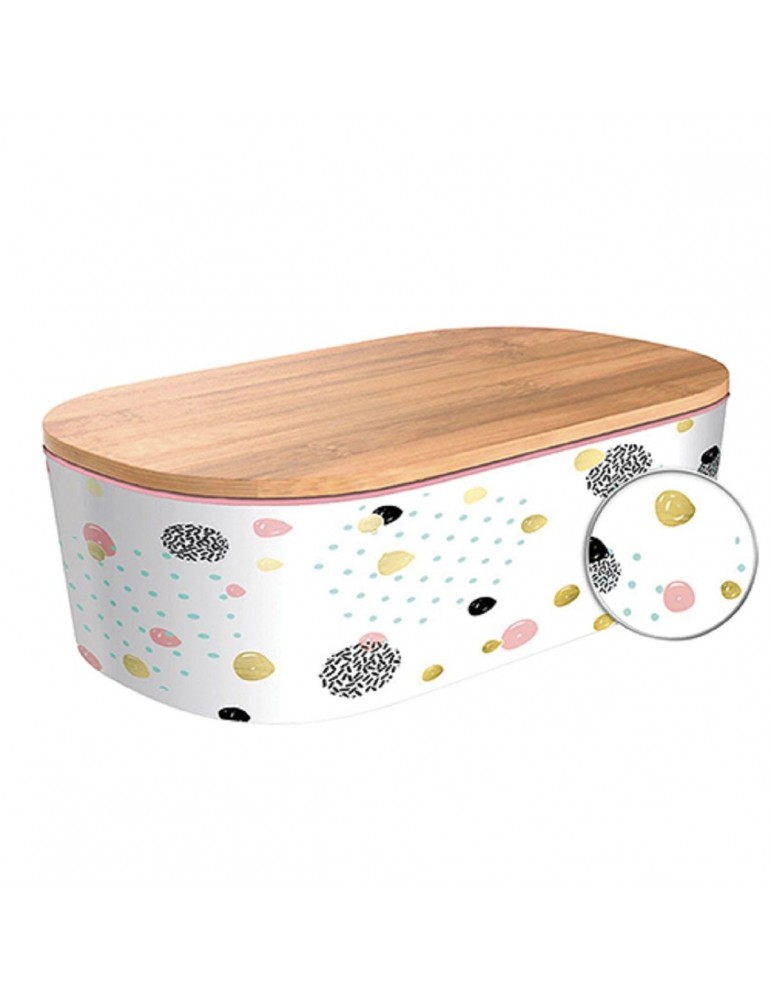 Bamboo lunchbox Dotted Pattern Gold CMBLB939Kiub