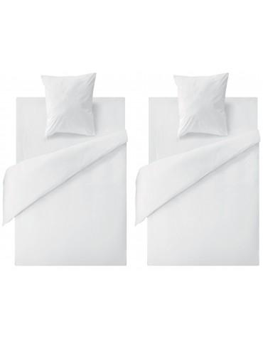 Lot de 2 protège-matelas tête et pieds relevables micro enduit Blanc 80 x 200 x 25 5318115502Les Ateliers du Linge