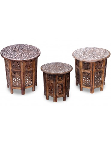 Set de 3 tables d'appoint Osman Naturel g21301bnatural