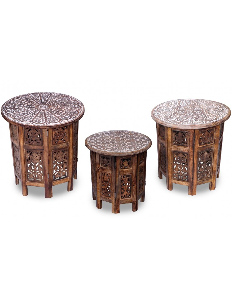 Set de 3 tables d'appoint Osman Naturel g21301bnatural