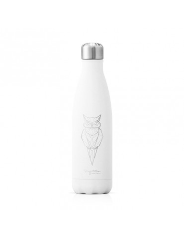 Bouteille isotherme inox blanche 750ml - Hibou LTBOTM37