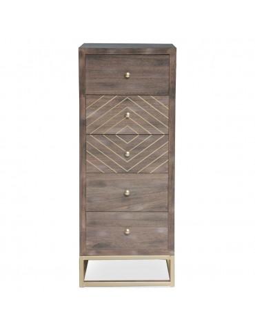 Commode Lipnia scandinave 5 tiroirs Bois Vintage 19ay503boisvintage