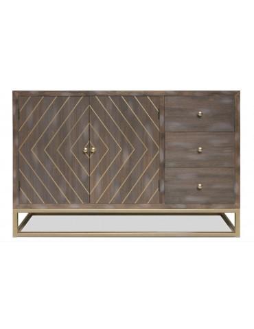 Buffet Lipnia scandinave 2 portes et 3 tiroirs Bois Vintage 19ay502boisvintage