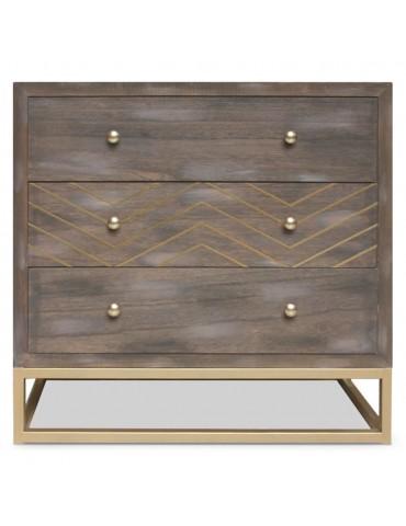 Commode Lipnia scandinave 3 tiroirs Bois vintage 19ay504boisvintage