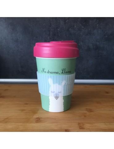 Mug de voyage chic mic lama 400 ml Bamboo Cup CMBCP268Kiub