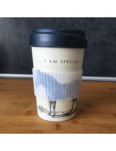 Mug de voyage chic mic zebre 400 ml Bamboo Cup CMBCP265Kiub