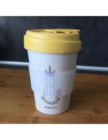 Mug de voyage chic mic licorne 400 ml Bamboo Cup CMBCP233Kiub