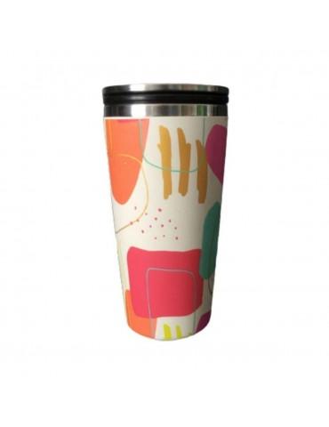 Mug de voyage Bamboo luxe slide cup 420 ml pop moderne CMBCS120Kiub