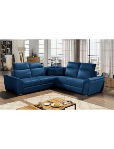 Canapé d'angle Federico Velours Bleu federicokronos9