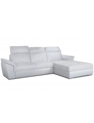 Canapé d'angle convertible Trevisco Simili Blanc trevdsoft17