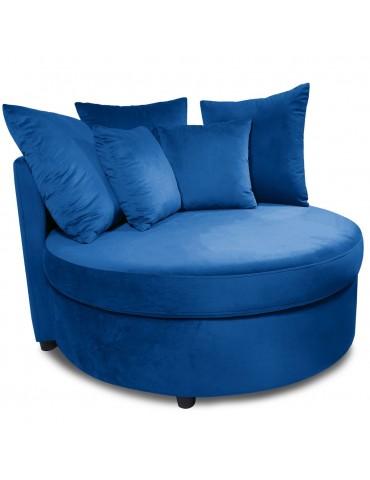 Fauteuil XXL Musso Velours Bleu lsr20020bluevelvet78