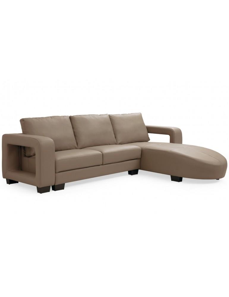 Canapé d'angle en simili cuir Matha Marron Clair 1194lightbrown