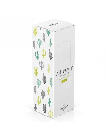 Bouteille infuseur nomade a the ou a fruits 400ml - Cactus LTINF23Label'tour