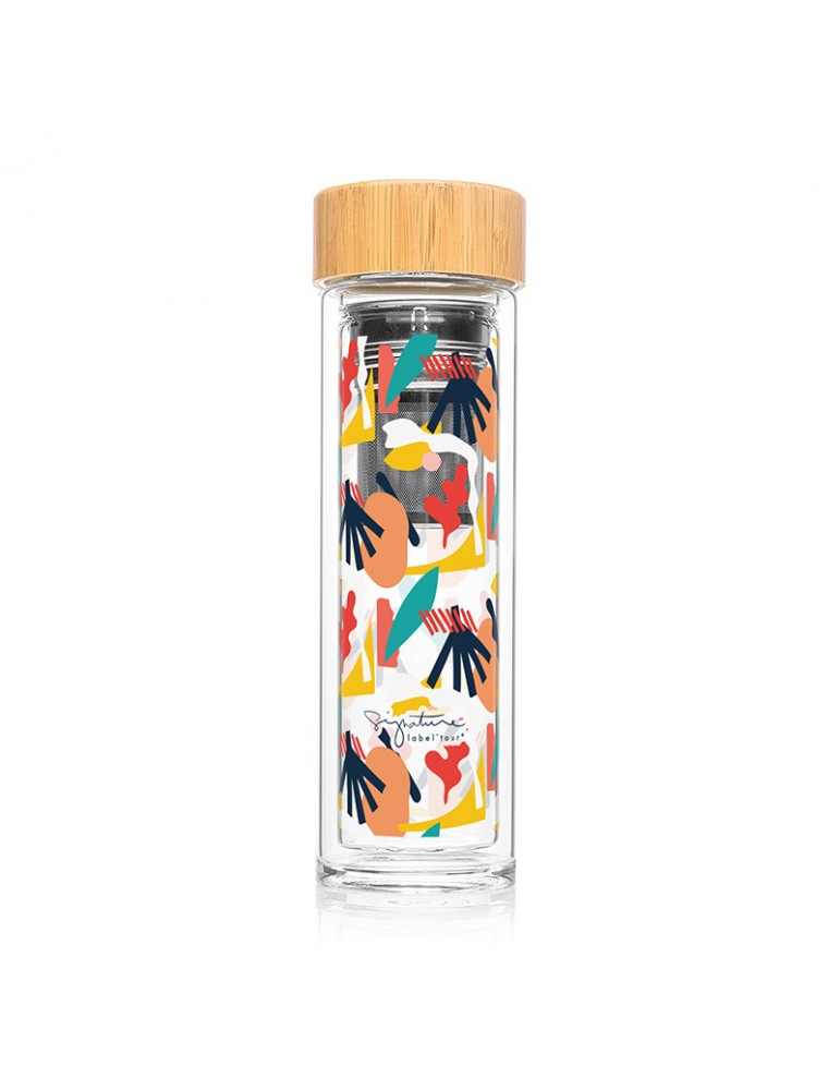 Bouteille infuseur nomade a the ou a fruits 400ml - Abstrait LTINF41Label'tour