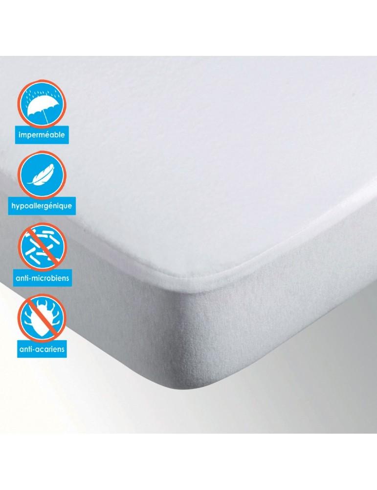 Protège-matelas Microfibre enduit Blanc 180 x 200 x 25 5318114501Les Ateliers du Linge