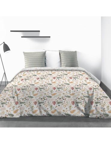 Parure de lit 2 personnes Gardenia avec drap plat et taies d'oreiller Imprimé 240 x 290 4774000503Les Ateliers du Linge