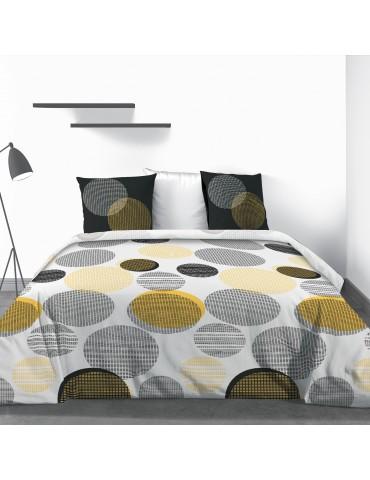 Parure de lit 2 personnes Stitchy avec drap plat et taies d'oreiller Imprimé 240 x 290 4789000503Les Ateliers du Linge